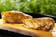 Cedar-Planked Honey-Spiced Chicken recipe. Don't have the cedar plank or a grill. so... guess I'll just be making this in the oven hahaha