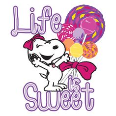 Description: Life is sweet and it shows in this Peanuts canvas art. Featuring Belle and brightly colored lollipops, a child would love this art in their bedroom or playroom. - Peanuts wall art featuri