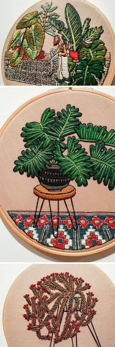 Embroidery by Sarah K. Benning #hoopart #embroideryart #moderncraft