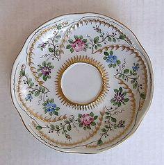 19th C Sevres Porcelain Butterfly Handle Teacup Tea Cup Amp Saucer | eBay