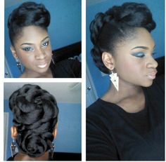 I want to try this! Natural updo