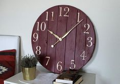 decorative Large wooden wall clock , oversized wall clock