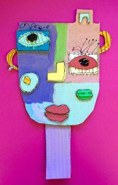 À la manière de Kimmy Cantrell  5ème année Cardboard Art, Tree Branches, Art Projects, Art Pieces, How To Make, Arts Plastiques, Africa, Kunst, Artworks