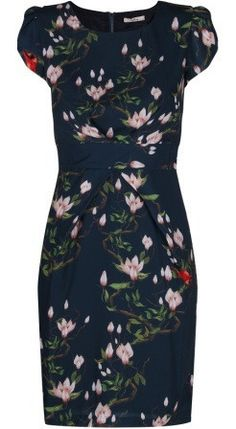 Darling Tia Retro Vintage Tulip Shape Dress in Shadow Blue Occasion Wear, Special Occasion Dresses, Tulip Dress, Fashion Boutique, Vintage Inspired, Retro Vintage, Party Dress, High Neck Dress, Short Sleeve Dresses