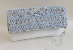 Clutch with doily...vintage