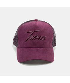 Twinzz Lighting Script Trucker Cap Maroon-Twinzz-Gym Wear