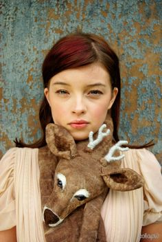 Deer scarf. I need this possibly more than I've ever needed anything.