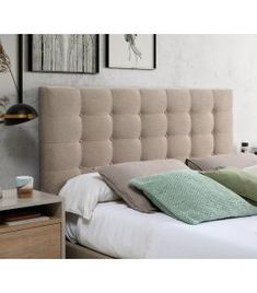 Comprar online Cabecero tapizado de estilo URBAN Colección EVA Couch, Ideas, Furniture, Home Decor, Upholstered Headboards, Headboards, Yurts, Style, Settee