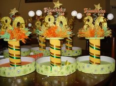Let's go party! Birthday Fun, Birthday Cake, Birthday Parties, Centerpieces, Table Decorations, Ideas Para Fiestas, Crafts, Batman, Party Ideas