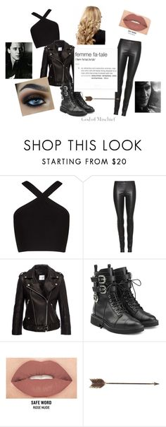 """""""Jane Barton-Outfit One"""" by tymartz1424 ❤ liked on Polyvore featuring BCBGMAXAZRIA, The Row, Anine Bing, Giuseppe Zanotti, Smashbox and Creative Co-op"""