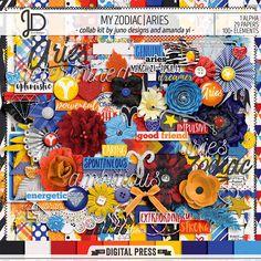 My Zodiac | Aries - Digital Scrapbook Kit by Juno Designs & Amanda Yi