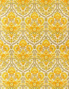 Retro behang geel