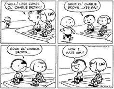 The very first Peanuts cartoon