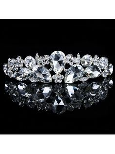 Gorgeous Alloy with Glass and Rhinestiones Wedding Bridal Tiara