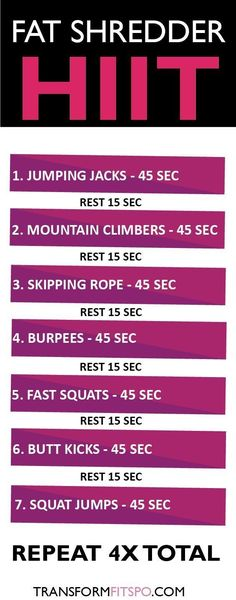 Fat shredder HIIT fitness workout exercise weight loss #weightlifting