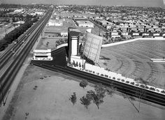 Century Drive-In Theater, Inglewood, CA - Image West Los Angeles, Los Angeles Area, Los Angeles County, Inglewood California, Southern California, Drive In Theater, California History, Aerial View