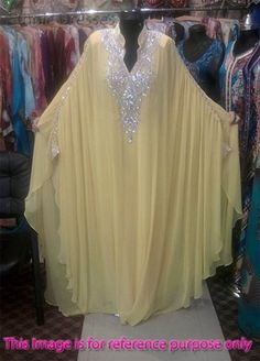 Yellow Long Chiffon Abaya in Dubai Kaftan Plus Size Muslim Evening Dresses Beaded Turkish Islamic Women Arabic Evening Gowns Arab Fashion, Islamic Fashion, African Fashion, Muslim Evening Dresses, Evening Gowns, Hijab Style Dress, Mode Abaya, Kurti Designs Party Wear, Maxi Dress Wedding