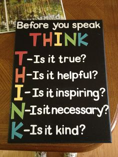 THINK board: future classroom and inspiration for all adults too.