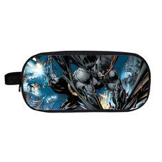 Super Hero Batman Pencil Case Holder Double Layer Kids Gift Bag Children Case Boys Girls School Cases Purse Wallet Gift