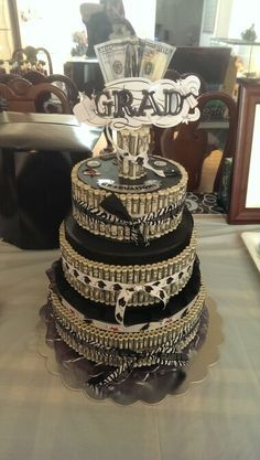 Money cake for graduation.