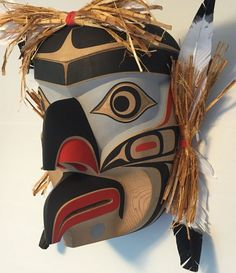 Northwest Coast Native Art Wren Mask By Jay Brabant, Cree