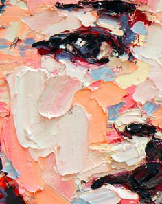 I love textured paint. I hope next summer to paint a large canvas for my dining room with lots of wonderful texture.