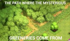 Clash of clans humor - mystery path Best Games, Fun Games, Clash On, Geek Out, Clash Of Clans, Haha, Photo Editing, Mystery, Memes