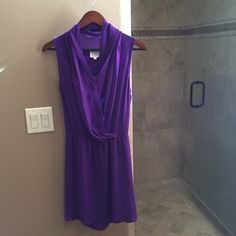 Dress by Parker 100% Silk dress by Parker. Pure Purple in color. Front closure and in perfect condition. Parker Dresses Mini