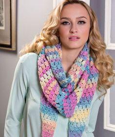 Cluster Stitch Wrap Crochet Pattern | Red Heart Free crochet pattern