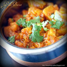 Indian style potatoes - A Maharashtrian style dish to be enjoyed with white rice and waran