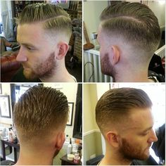 The classic side parted undercut slicked back - for straight hair