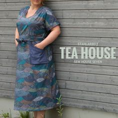Blogtour, Tea House Dress, Sewhouse 7, Schnittmuster, Pattern, Stahlarbeit, Curvy sewing, Japan,