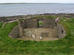 Knap of Howar, Papa Westray, Orkney, Scotland.