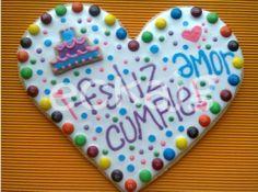 galleta de corazonn gigante cumpleaños