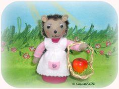 Igel Filztiere Jahreszeitentisch von Susannelfes Blumenkinder  auf DaWanda.com