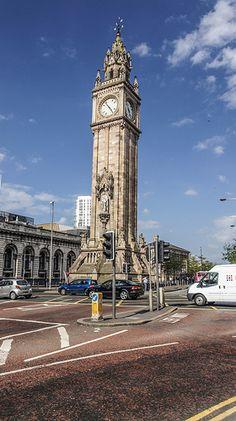 Albert Memorial Clock, Belfast, North Ireland, U.K....Crooked after centuries of prostitutes leaning against it.