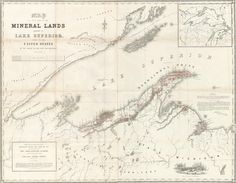 Image of Map of That Part of the Mineral Lands Adjacent to Lake Superior Ceded to the United States in 1842