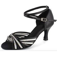Dámské - Taneční boty - Latina - Koženka   Třpitivé flitry - Podpatek na  míru - bb03efb942