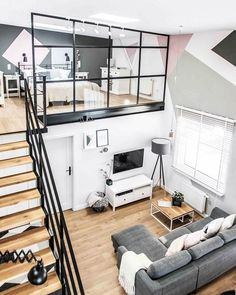 """home_decor1254 on Instagram: """"Source: Shoko Design Mostly converted from former industrial or commercial buildings to residential use, loft apartments can also be an…"""""""