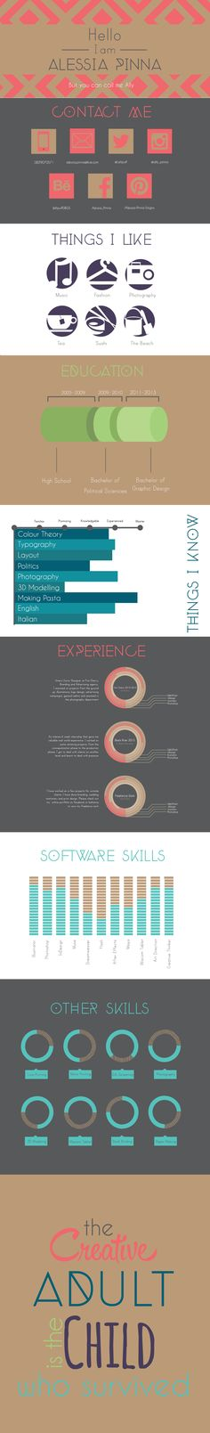 I design infographic resumes like this one - check out my portfolio of creative…