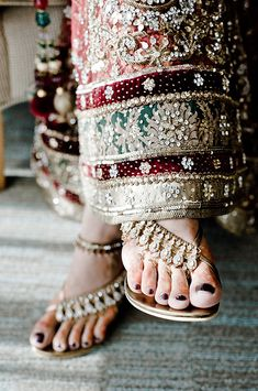 Bejeweled sandals