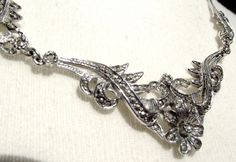 Vintage marcasite necklace. Beautiful sparkling by EvasCollections, $27.99