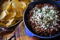 Chili Dip. Recipe by Ellen Gansen Photo by Cyle Suesz