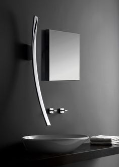 Graff's latest faucet design, Luna, is inspired by the moon and the stars according to Design Milk Sink Taps, Bathroom Sink Faucets, Sinks, Wall Faucet, Lavatory Faucet, Bathroom Fixtures, Futuristisches Design, House Design, Yanko Design