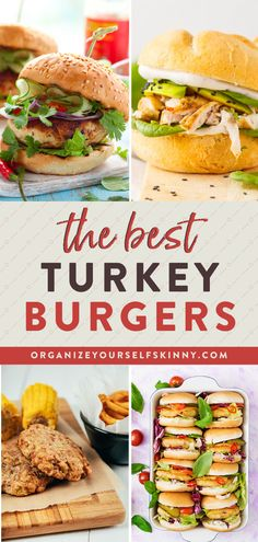 The Best Turkey Burger Recipe | Healthy Dinner Recipe - want to learn my tips and tricks for getting the juiciest, most flavorful ground turkey burger?No more dried up, flavorless burger patties. Trust me, these will be the best turkey burgers you have ever tasted! Click for the full recipe! Burger Recipe | Summer Recipes | Organize Yourself Skinny | turkey burger #healthy #turkeyburger #healthyburger #mealprep #cleaneating #mealpreplunch Best Turkey Burger Recipe Healthy, Turkey Burger Recipes, Ground Turkey Burgers, Best Turkey Burgers, Beef Recipes For Dinner, Clean Eating Recipes, Summer Recipes, Healthy Freezer Meals, Healthy Cooking