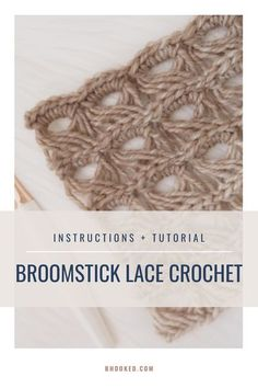 The broomstick lace crochet stitch is one of the most unique and beautiful of crochet stitches. It's open and airy, making it great for fall and spring projects. #BHooked #Crochet #CrochetStitches Freeform Crochet, Crochet Diagram, Crochet Motif, Free Crochet, Crochet Edgings, Crochet Instructions, Free Knitting, Crochet Stitches For Beginners, Crochet Stitches Patterns