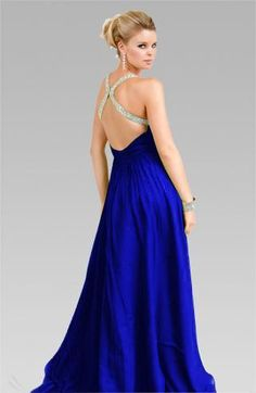 starting to see prom dresses alllll overrr Pinterest... love the color and back design on this one