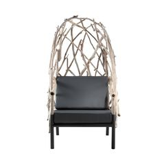 Wingback Chair OUTLINE (S) Bleu Nature, Small Outdoor Patios, Plant Art, Wingback Chair, Hanging Chair, Indoor, Outline, Modern, Furniture