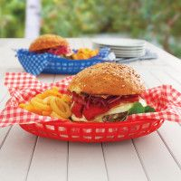 Burger basket liners from @SurlaTable $6.00 for a pack of 24.