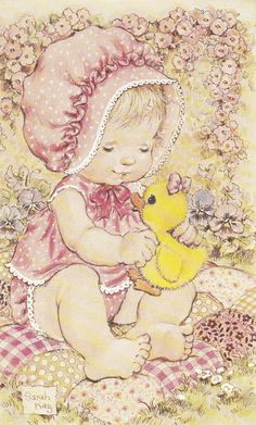 Sarah Kay Collezione Intercards No. Sarah Key, Cute Little Girls, Cute Kids, Finding A Hobby, Hobbies To Try, Hobby Horse, Holly Hobbie, Cute Illustration, Coloring Pages